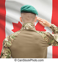 canada, forces, série, national, -, drapeau, fond, ...