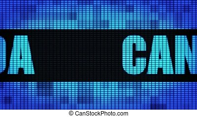 Canada Front Text Scrolling LED Wall Pannel Display Sign...