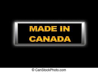 canada., gemaakt