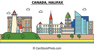 Canada, Halifax. City skyline architecture, buildings,...