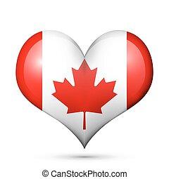 canada, hart, vlag, pictogram