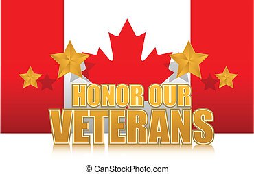 canada honor our veterans gold illustration sign design on...