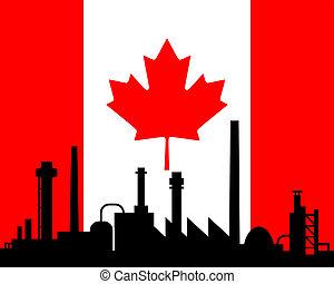canada, industrie, drapeau