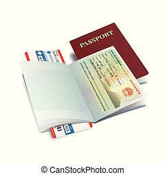 canada, international, vecteur, visa, passeport