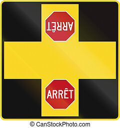 canada, intersection, arrêt, four-way
