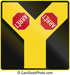 canada, intersection, arrêt