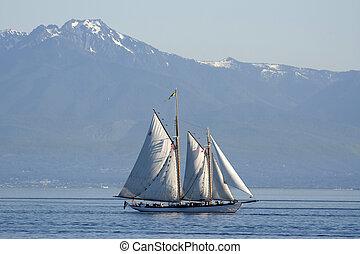canada, jésus-christ, bateaux, victoria, bataille, mer