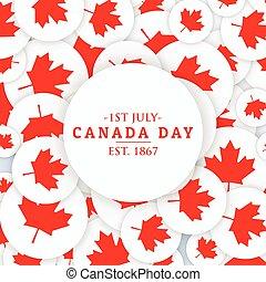 canada, juillet, jour, fond, 1er