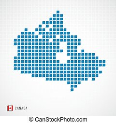Canada map and flag icon