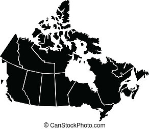 Chunky, cartoon map of Canada. Map source: Created in Adobe Illustrator CS3 on 4/06/2009.