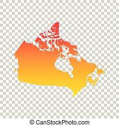 Canada map. Colorful orange vector illustration