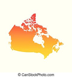 Canada map. Colorful orange vector illustration