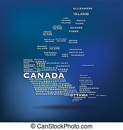Canada map concept