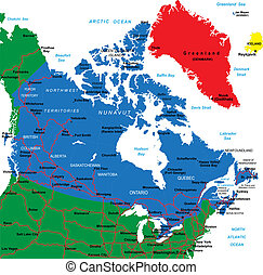 Canada map - Each file is constructed using multiple layers...
