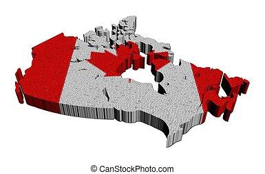 Canada map flag mosaic illustration