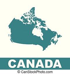 Canada map. Flat vector illustration