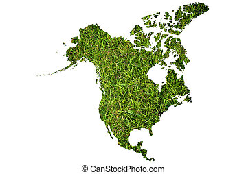 Canada map grass isolated.
