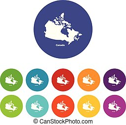 Canada map icon, simple style