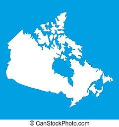 Canada map icon white