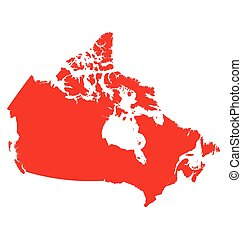 Canada Map - Detailed map of Canada isolated on white...