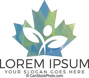 Canada maple leaf logo design.