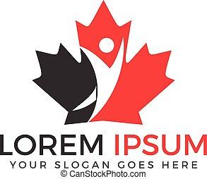 Canada maple logo vector design.