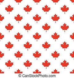 canada, modèle, symbole, leaf., seamless, drapeau, pays, érable