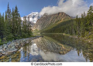 canada, montagne, nazionale,  -, parco, foresta,  boreal, diaspro