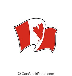 Canada national flag. Vector illustration. Ottawa
