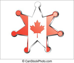 canada, national, médaille, drapeau