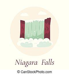 canada, natuurlijke , usa, niagara, falls., oriëntatiepunt