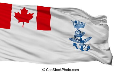 Canada Naval Ensign Flag Isolated Seamless Loop - Naval...