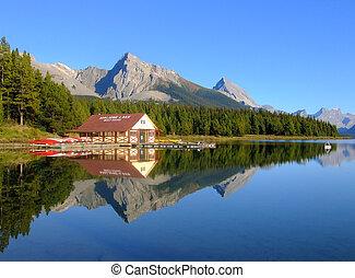 canada, nazionale, lago, parco, diaspro,  Alberta,  maligne