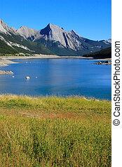 canada, nazionale, lago, parco, diaspro, medicina,  Alberta