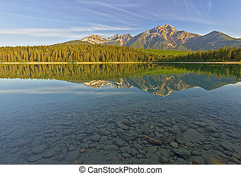 canada, nazionale,  patricia, parco, lago, diaspro