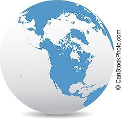 Canada, North America, Siberia and Japan Global World