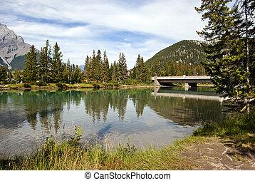 canada, parco, nazionale,  Banff,  Alberta