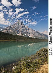 canada, -, parco nazionale, lago, diaspro, alberta, tempio