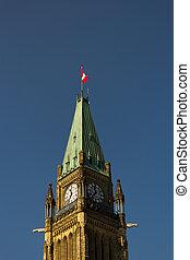 canada, parlement, canadien, paix, ottawa, tour