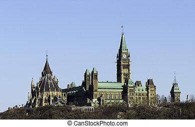 canada, parlement, ottawa, colline