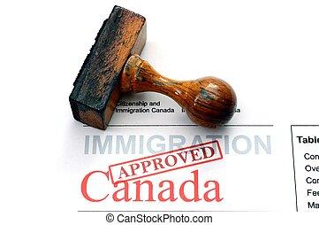 canada, paspoortcontrole