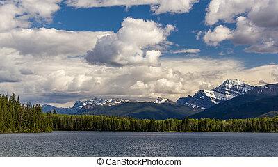 canada, piramide, nazionale, lago, parco, diaspro,  Alberta