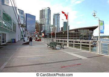 Canada Place promenade.