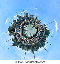 canada, poco, città, -, pianeta, vancouver