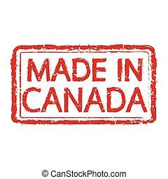 canada, postzegel, gemaakt, illustratie, tekst