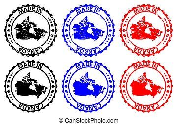 canada, postzegel, rubber, gemaakt, -