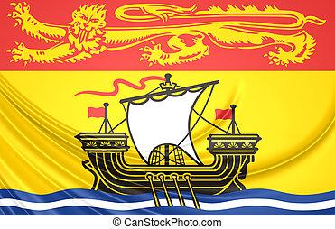 canada., província, bandeira, novo brunswick
