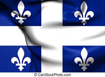 canada., quebec, província, bandeira