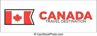 canada, reis bestemming, spandoek