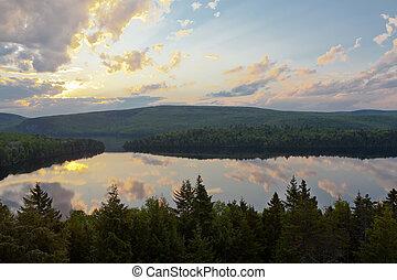 Canada,  sacacomie, sø,  Québec